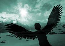 Steigen Sie wie ein Adler an lizenzfreie stockfotografie