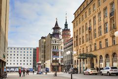 Steigenberger Grandhotel Handelshof van Leipzig Royalty-vrije Stock Foto's