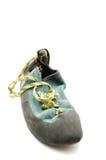 Steigende Ausrüstung - steigender Schuh lizenzfreies stockbild