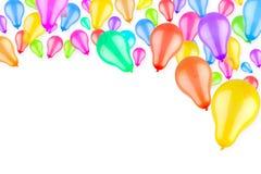 Steigende bunte Ballone stock abbildung