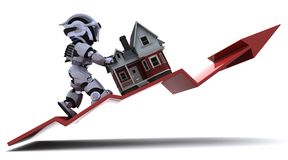 Steigende Eigentum-Preise Lizenzfreie Stockbilder