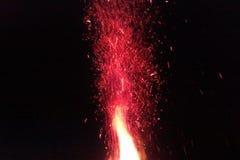 Steigende Flammen Lizenzfreies Stockbild