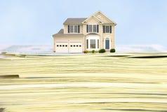 Steigende Kosten Eigenheimbesitz stockfoto
