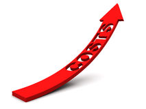 Steigende Kosten XXL Stockbild