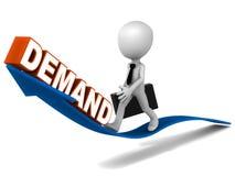 Steigende Nachfrage Stockfoto