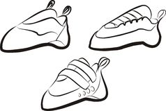 Steigende Schuhe Lizenzfreies Stockfoto