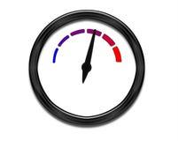 Steigende Temperatur - Vorwahlknopf mit weißem Gesicht vektor abbildung