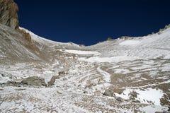 Steigender Aconcagua, Argentinien Stockbilder