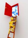 Steigender Mann die Treppen Stockbilder