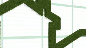 Steigender Pfeil geformt vom Gras vektor abbildung