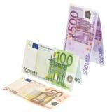 Steigendes Eurogewinndiagramm mit dem Pfad eingeschlossen Lizenzfreie Stockbilder