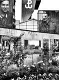 Steigendes Museum Warschaus Künstlerischer Blick in Schwarzweiss Stockbild