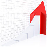 Steigendes Pfeil-Diagramm Lizenzfreie Stockfotografie