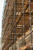 Steiger bij bouwwerf Stock Foto