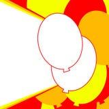 Steigt Geburtstagsfeiereinladung im Ballon auf Lizenzfreie Stockfotografie