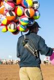 Steigt Händler im Ballon auf Stockfotografie