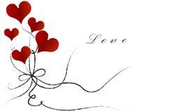 Steigt Herz mit Liebe im Ballon auf Stockbilder