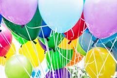 Steigt Partei im Ballon auf stockfotos