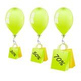 Steigt Verkauf im Ballon auf Stockbilder
