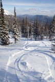 Steigung für freeride Skifahren und Snowboarding Stockfoto