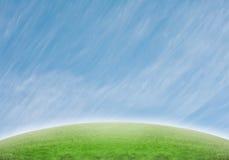 Steigung mit ausgedehnten speziellen Wolken Stockbilder