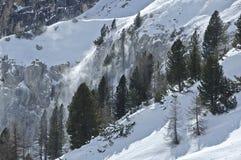 Steigung mit Schnee Lizenzfreie Stockfotos