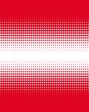 Steigung von roten Punkten auf Weiß Lizenzfreie Stockbilder