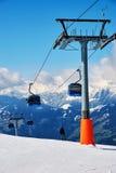 Steigungen des Skifahrenerholungsortes Stockbilder