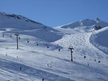 Steigungen in Val D'Isere Lizenzfreie Stockfotos