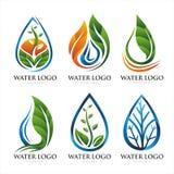 STEIGUNGS-BLATT-WASSER-LOGO-DESIGN STELLTE 1 EIN Stockfotos