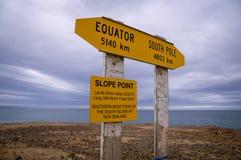 Steigungs-Punkt, der südliche Platz in Neuseeland stockfotos