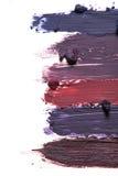 Steigungsabstrich der Farbe oder der Creme Stockbilder