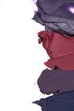 Steigungsabstrich der Farbe oder der Creme Stockbild