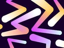 Steigungsform Moderner bunter geometrischer Hintergrund Abstrakter Aufbau 3d Vektor Stockbild