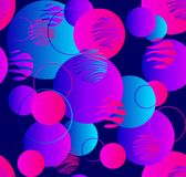 Steigungsgeometrie in der modernen Art auf blauem Hintergrund Abstraktes nahtloses Muster Veilchen, blaue, rosa Steigungen schabl stock abbildung