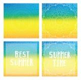 Steigungshintergründe mit Mandala- und Sommerkarten Bester Sommer, Sommerzeit Stockfoto