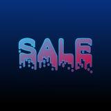 Steigungsverkaufs-Neonplakat Lizenzfreie Stockbilder