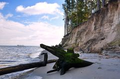 Steil, met steile bank van de rivier royalty-vrije stock fotografie