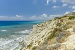 Steile Bank van Cyprus Stock Foto