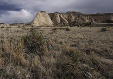 Steile helling op de Nationale Weide van Pawnee Stock Foto's