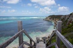 Steile Promenade aan het Strand van Indische Oceaan stock foto