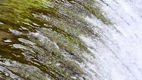 Steile Schleuse mit Wasser stock footage