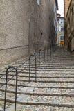 Steile Schritte - Le Puy-en-Velay - Frankreich stockbilder