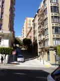 Steile Straßen von San Francisco, Kalifornien stockbild