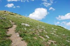 Steile wandernde Spur Stockbild