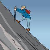Steile Wanderung Stockfoto