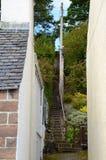Steiles Treppenhaus bei Plockton Stockfotografie
