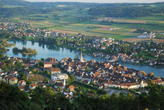 Stein Am Rhein From Above. Royalty Free Stock Photos
