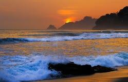 Stein auf dem Strand Lizenzfreie Stockfotografie