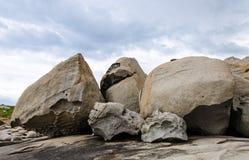 Stein auf dem Strand Lizenzfreies Stockbild